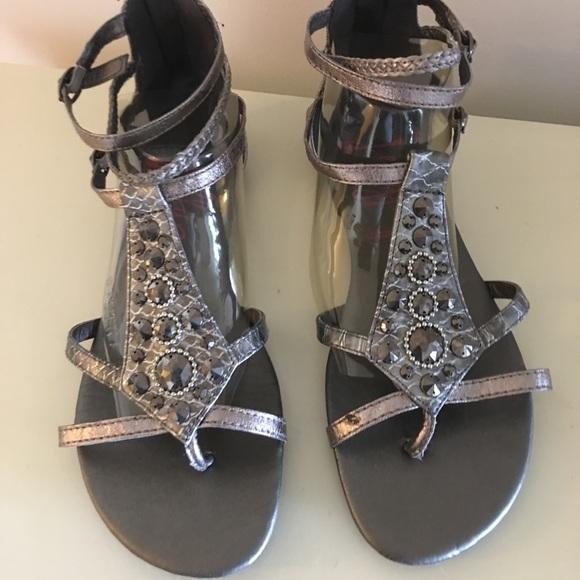 2263c0c62da Jellypop Shoes - Jelly pop silver gladiator sandals